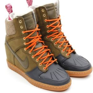 Nike Dunk Sky Hi Sneaker Wedge Boots